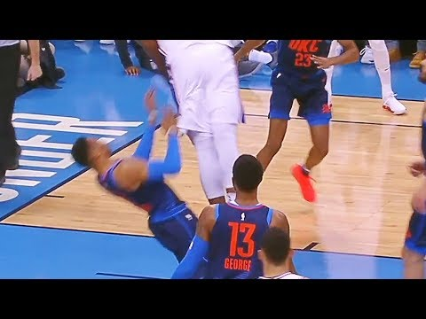 Joel Embiid DUNKS ON RUSSELL WESTBROOK AND STARES HIM DOWN! OKC Thunder vs Sixers January 28, 2018