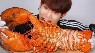 ASMR SEAFOOD GIANT LOBSTER 대박! 대왕 랍스터 먹방 MUKBANG EATING SOUNDS ロブスター Tôm hùm