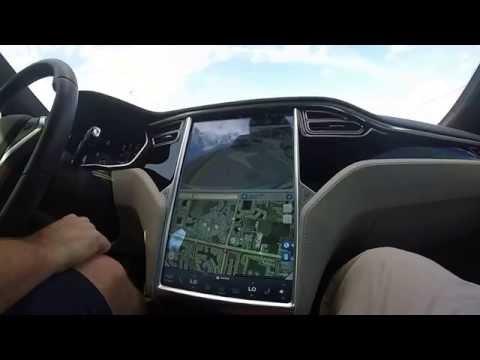 "SELF DRIVING  ""AUTOPILOT"" TESLA MODEL S! THE FUTURE IS NOW! ....YO!"