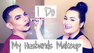 I DO MY HUSBANDS MAKEUP (HILARIOUS)