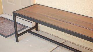 DIY Modern Outdoor Bench/Coffee Table // Metalworking
