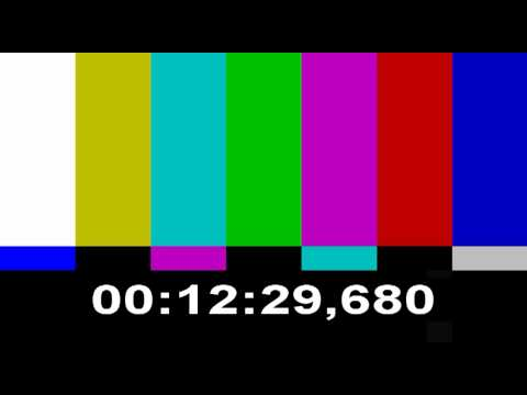 Color Bars Test Pattern + time, 20 minutes