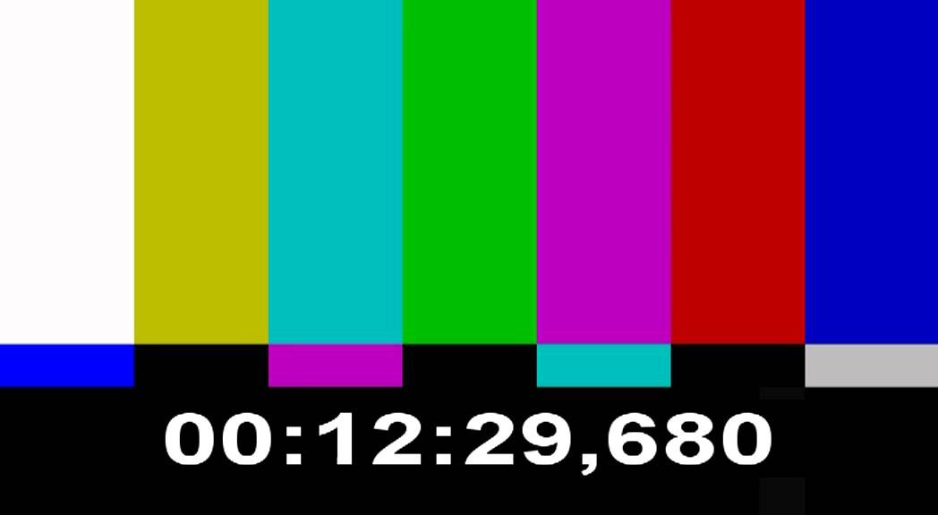 color bars test pattern and time