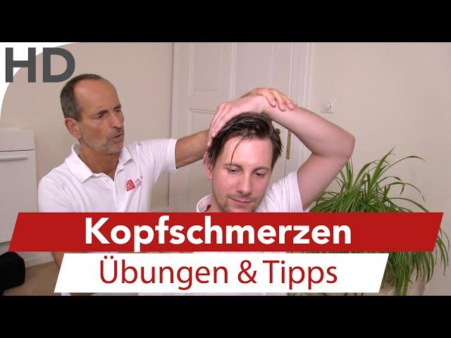 Kopfschmerzen Schulter Nacken / Übungen für die Faszien  / Faszientraining