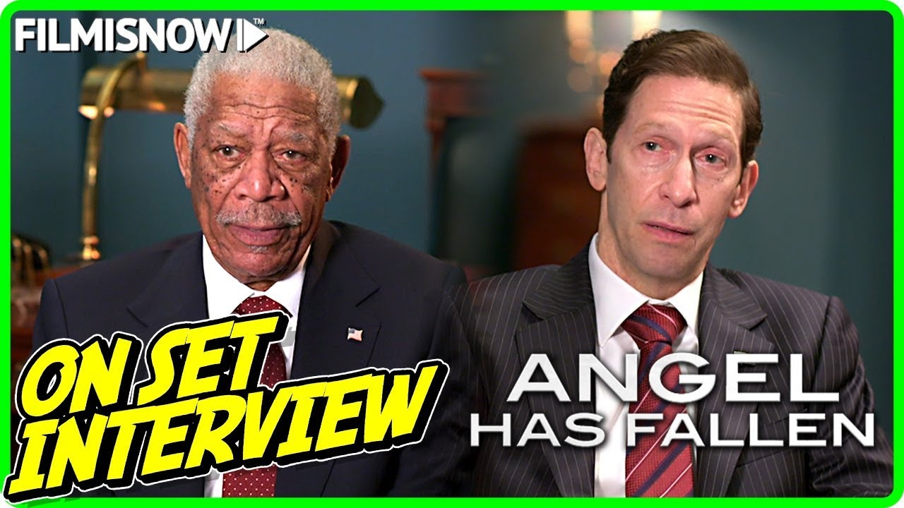 ANGEL HAS FALLEN | Morgan Freeman & Tim Blake Nelson On-set Interview