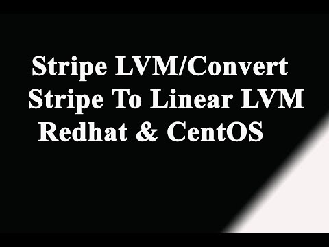 Stripe LVM, Convert Stripe to Linear LVM in Linux- Redhat | Suse | CentOS