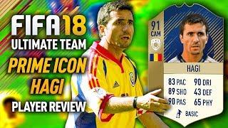 FIFA 18 PRIME HAGI (91) *ICON* PLAYER REVIEW! FIFA 18 ULTIMATE TEAM!