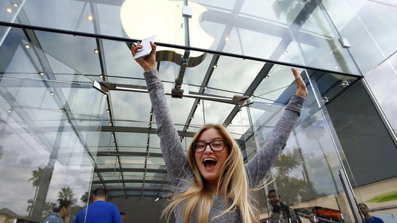 First In Line For Iphone 6 The Story Ijustine Youtube