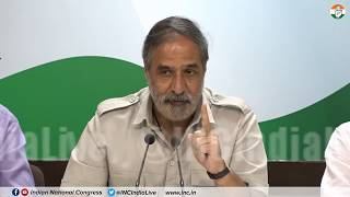 Rafale Deal Scam: AICC Press Briefing By Anand Sharma at Congress HQ