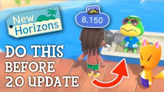 Animal Crossing New Horİzons - HOW TO PREPARE For 2.0 UPDATE (Things You Need To Do)