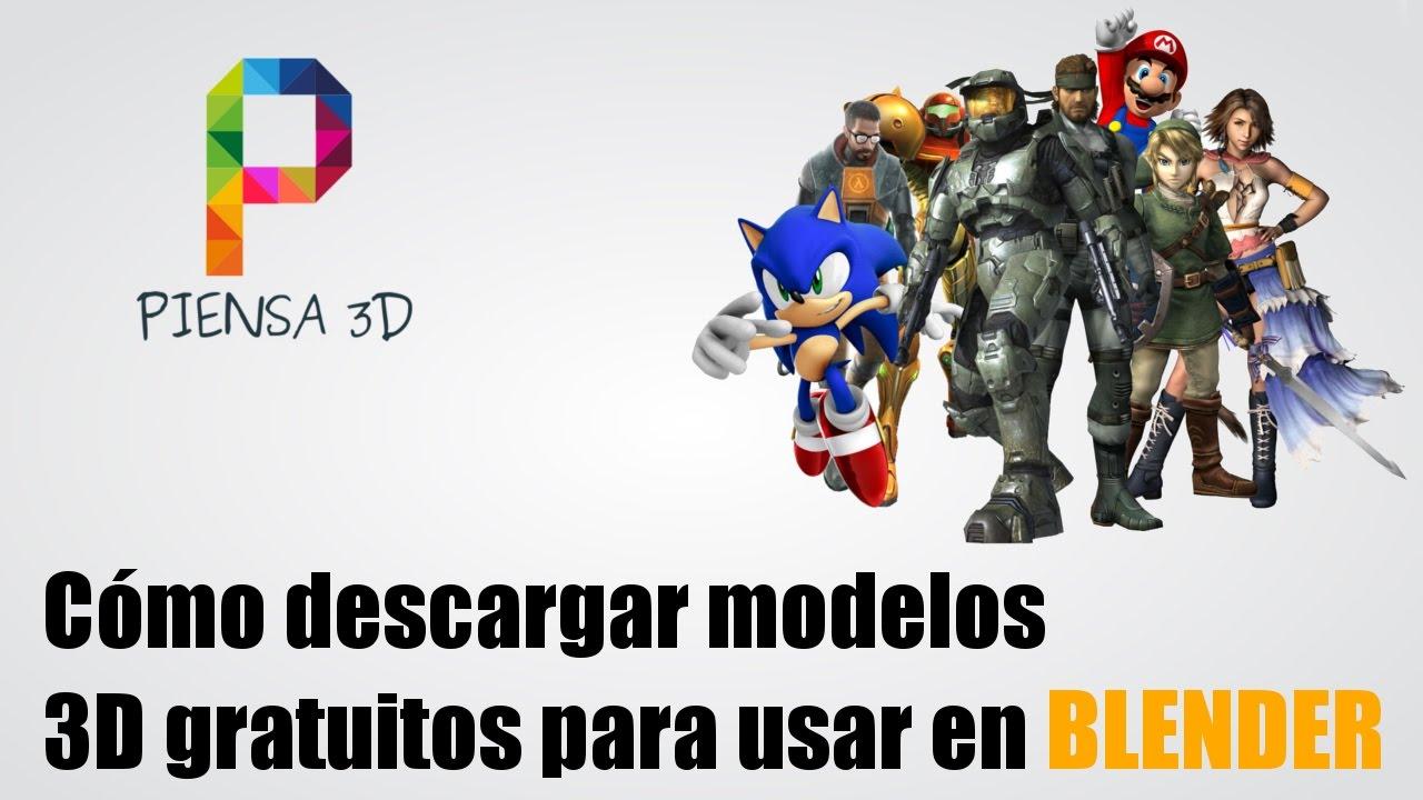 Cómo descargar modelos 3D gratis para BLENDER - YouTube