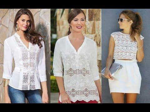 8973805b44 descubre lo mejor de la temporada con los diversas propuestas que puedes  llevar con los diversos modelos mujer 2019 de blusas con encaje .