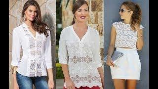 Blusa con encaje Moda Mujer 2019 | Tendencias