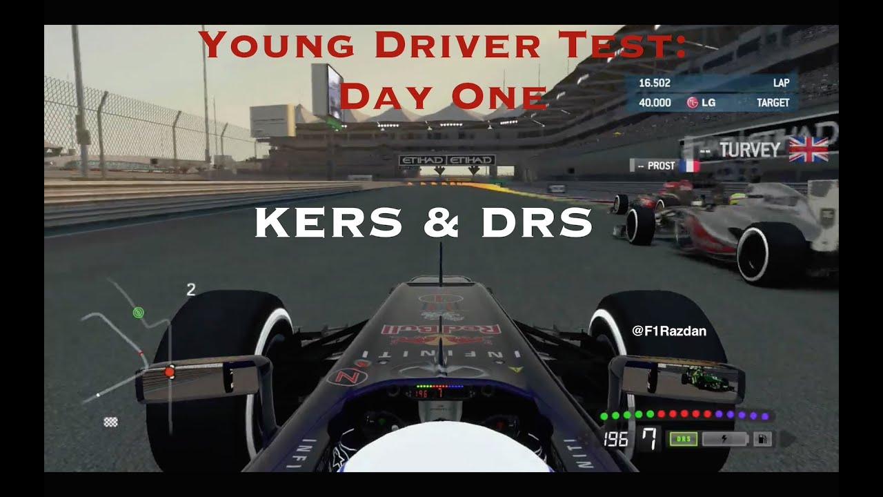 F1 2013 Career: Young Driver Test: Day 1: KERS & DRS