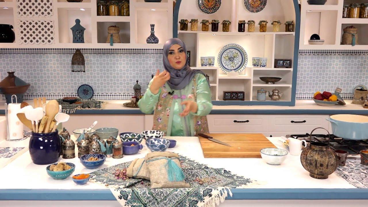 الرغايف المغربية و شوربة لسان عصفور بالكريمة و المشروم و حلوى ام علي بالمشمشية ( الجزء الثالث)