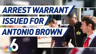 Police Issue Arrest Warrant for Former NFL Player Antonio Brown | NBC 6