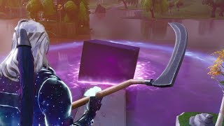 THE CUBE MELTS IN FRONT OF MY SKIN GALAXY !!! Fortnite battle royal