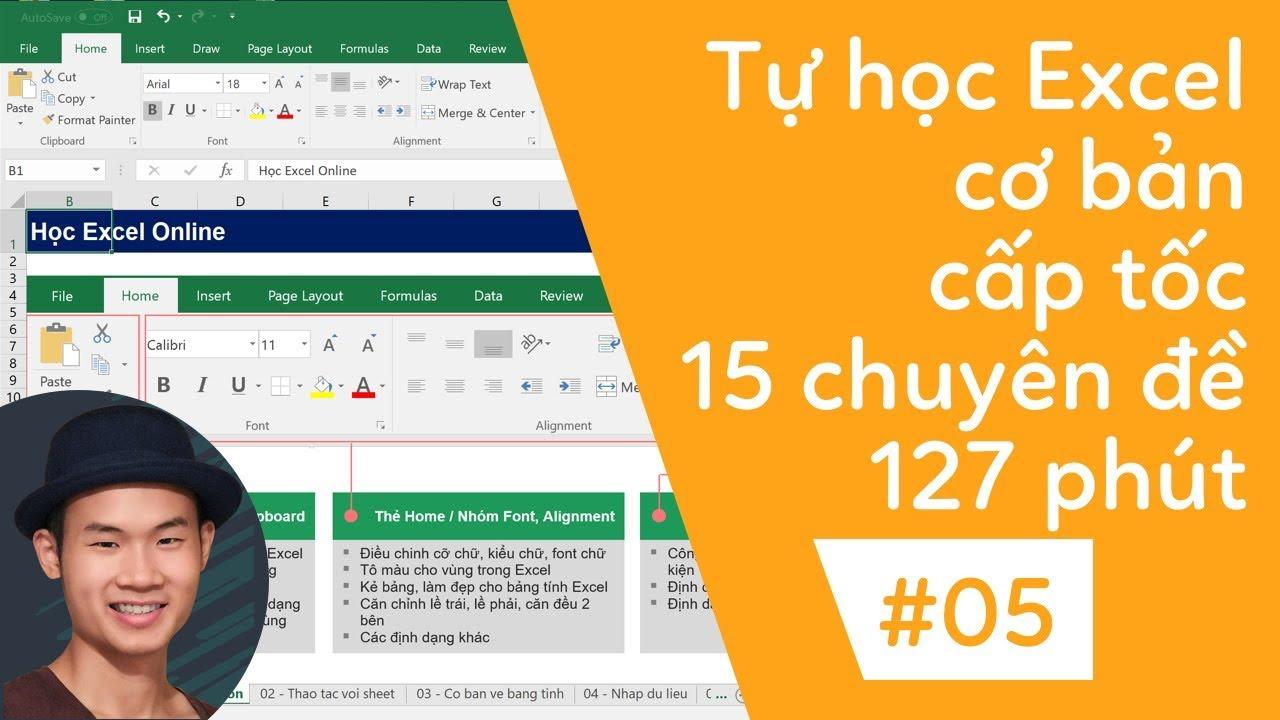 Tự học excel cơ bản | 05 Nhập công thức trong Excel