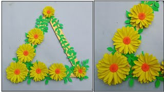Paper Flowers Wall Hanging | Easy Wall Decoration Ideas | Diy Paper Craft Easy | Room Decoration