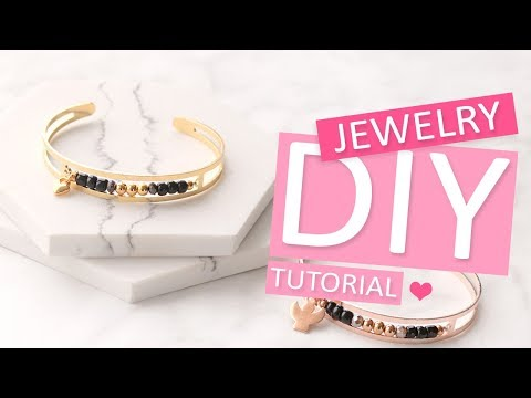 DIY Tutorial – Armbanden van DQ metaal met kralen - Zelf sieraden maken