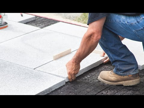 How To Install a Granite Slab Paver Patio In Half the Time With EZ Base