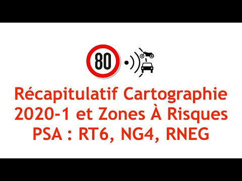 Récap Mise à Jour Cartographie 2020-1 Et Zones A Risques PSA RT6/RNEG/NG4