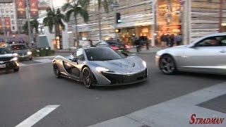 One day of Supercars in Beverly Hills:  McLaren P1, Bugatti Veyron, Lamborghini Aventador