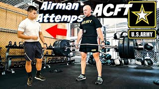 Air Force Attempts ACFT | Army Combat Fitness Test (Field Test)