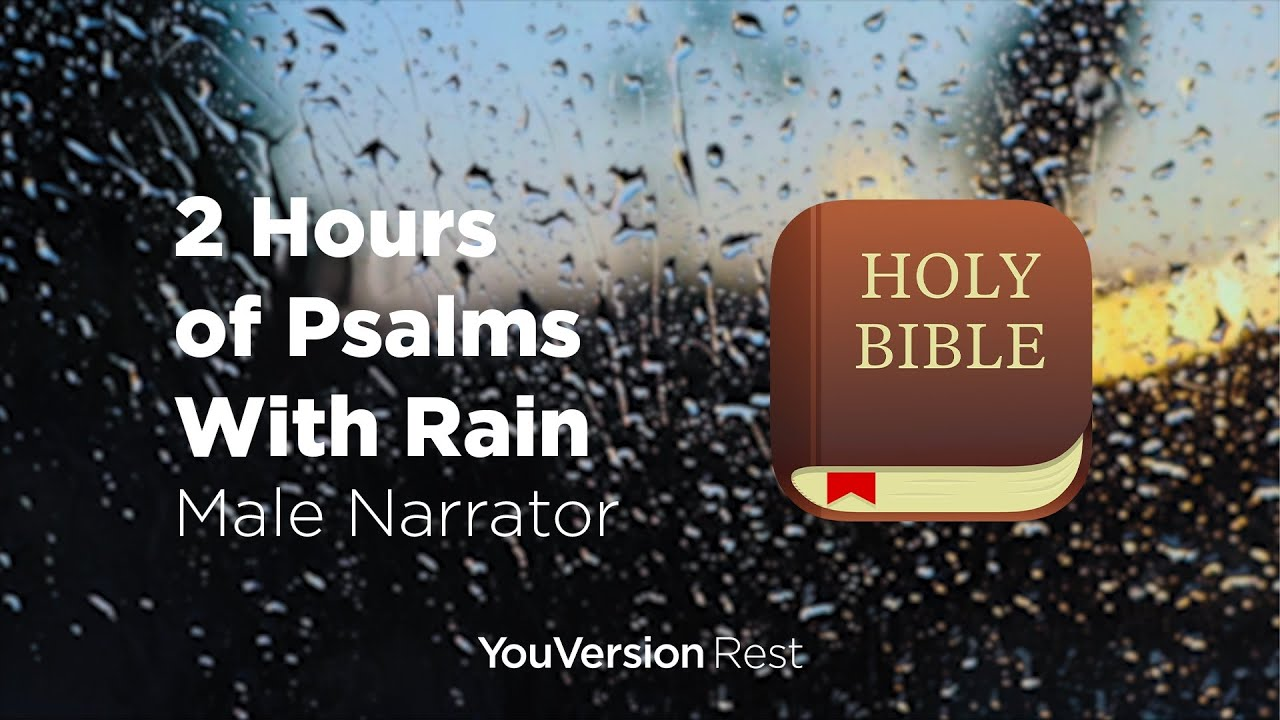 Bible Verses with Rain for Sleep and Meditation - 2 hours (Male Narrator)