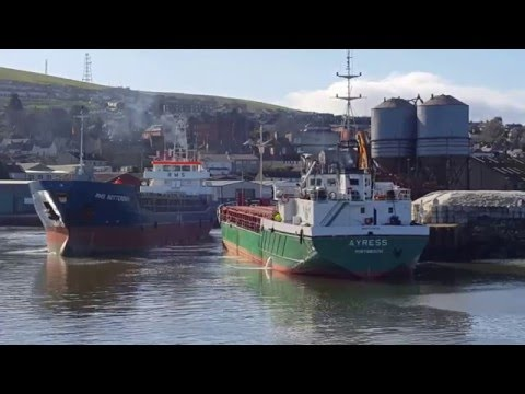 Ships at Wicklow Harbour