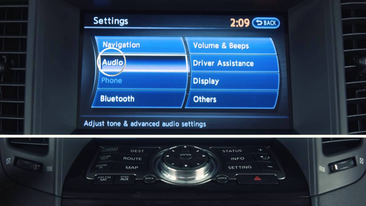2013 infiniti fx audio system with navigation youtube vanachro Image collections