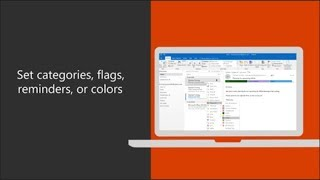 Set an email flag, reminder, or color in Outlook