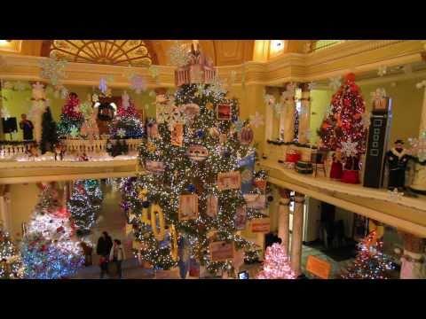 South Dakota Capitol Christmas trees