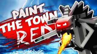DEFEATING THE MASSIVE ROBOT! (Best Workshop Creations - Paint The Town Red Gameplay)