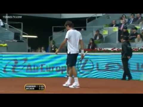 Federer & Gulbis Tuesday Day Highlights Madrid 2010