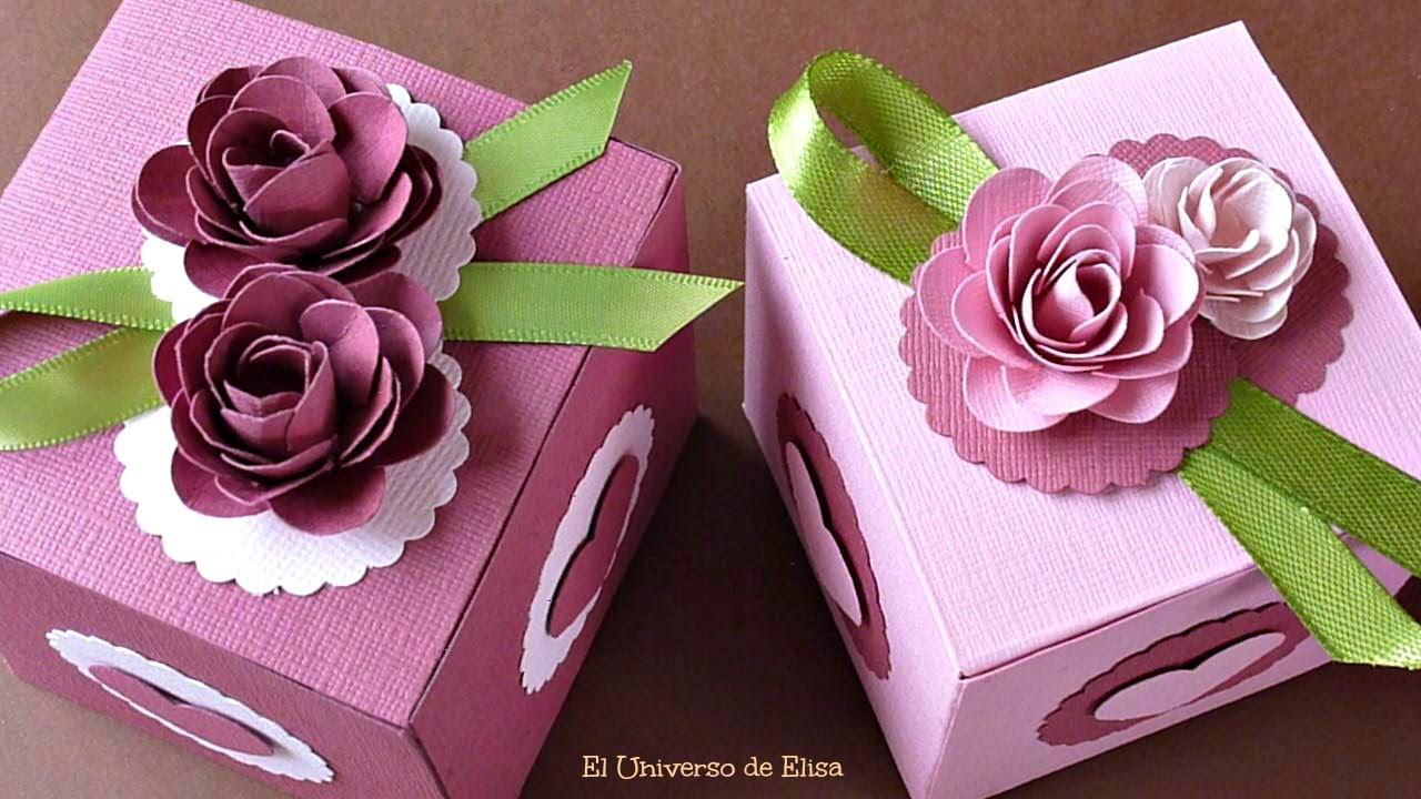 Cajas Decorativas Flores