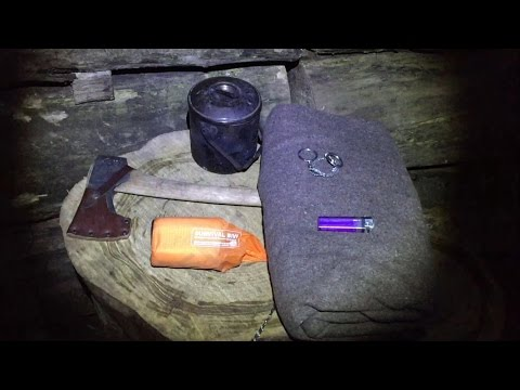 SOLO 6 PIECE KIT SURVIVAL CAMP UNDER THE STARS
