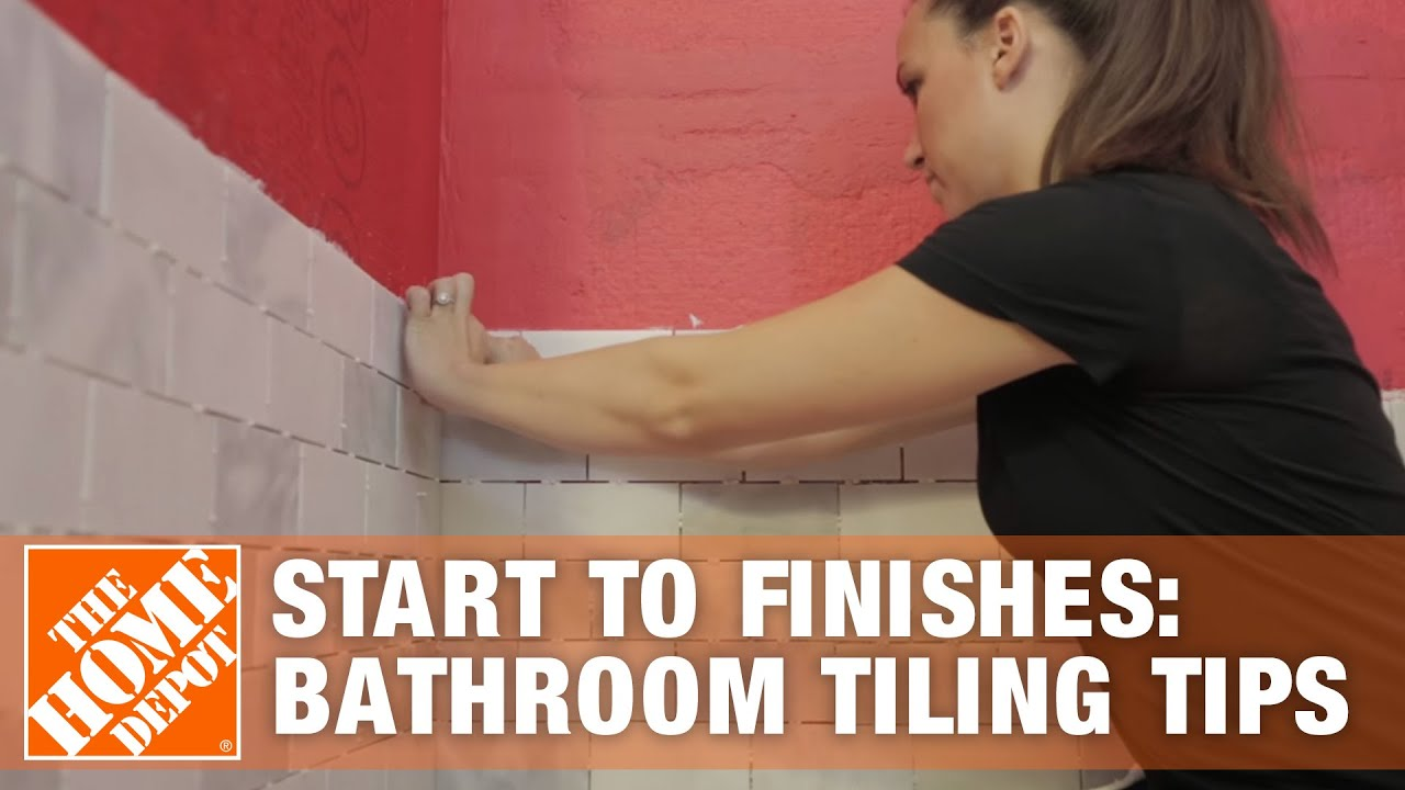 Start To Finishes Bathroom Tiling Tips YouTube