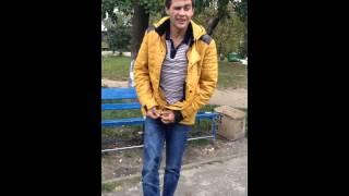 Прикол про алкашей.Ломает лавочку.Киев