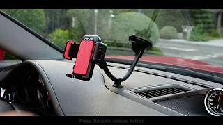 How to install Mpow Windshield Long Arm Car Mount