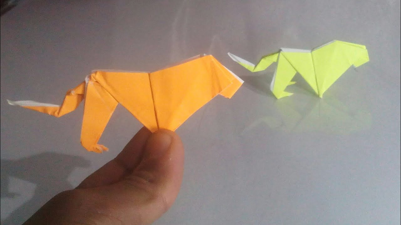 Nishant Art And Craft Origami Lion How To Make A Origami Lion