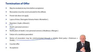 Termination of Offer - ACCA Corporate and Business Law (LW) (ENG)