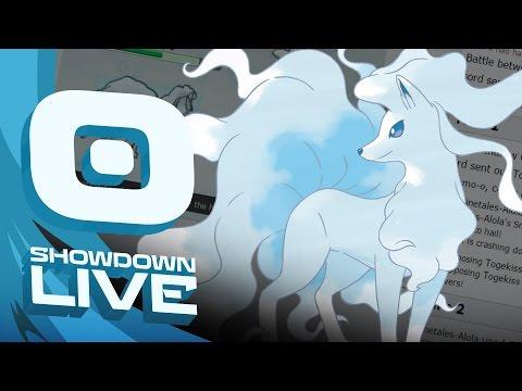 Pokemon Sun and Moon! Showdown Live: Enter Alolan Ninetales - Alolan Ninetales Showcase!