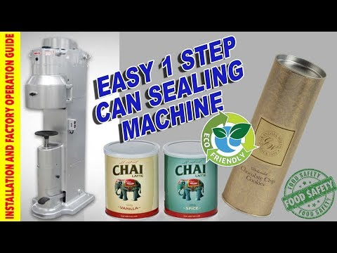 ECO FRIENDLY CAN SEAMING MACHINE - Paper / Tin / Aluminium For Coffee / Cocoa / Tea