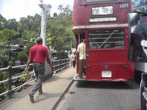 Sri Lanka,ශ්රී ලංකා,Ceylon,Kandy,AEC Routemaster Double-Decker Bus chase