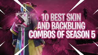 TOP 10 BEST SKIN + BACKBLING COMBOS IN SEASON 5! | Fortnite Battle Royale!