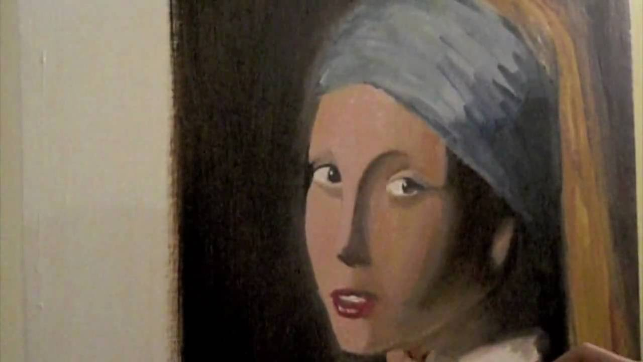 Painting The Girl With A Pearl Earring  Anthony Mitchell Speed Painting  (age 16)