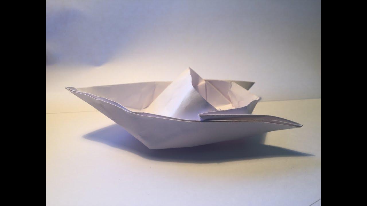 papierschiff falten rennboot falten origami boot. Black Bedroom Furniture Sets. Home Design Ideas