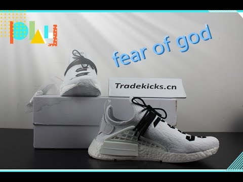 bbf1bbe91 Fear of God x Adidas NMD Pharrell Williams Human Race White - YouTube