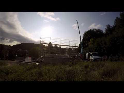 Hanse Haus Aufbau im Zeitraffer | Fertighaus-Stellung